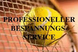 Professioneller Bespannungsservice beim TuS 1860 Neunkirchen, Abt. Tennis